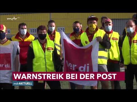 Warnstreiks bei der Deutschen Post in Dresden