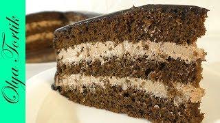 """ТОРТ """"ПРАГА"""" Пошаговый рецепт Рецепт шоколадного торта /// Olya Tortik Домашний Кондитер"""