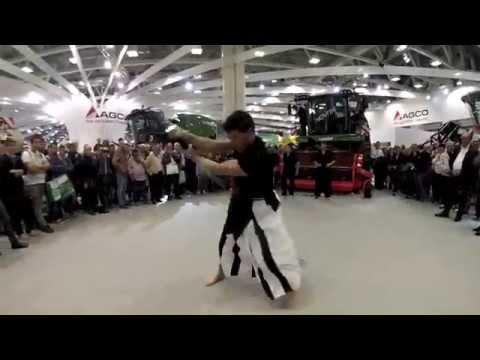 Fendt Katana Show | Karate Freestyle M. Castellacci [GoPro] #eima2014