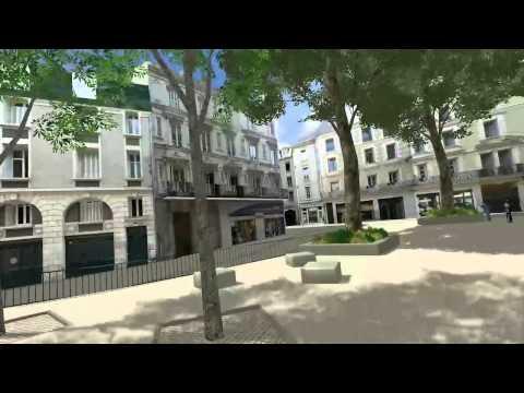 Le centre ville de Poitiers en 3D