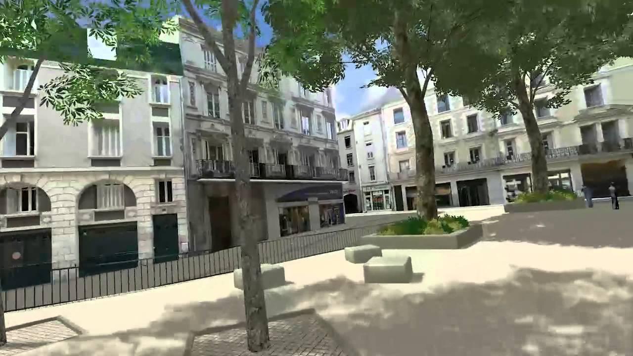 Le centre ville de poitiers en 3d youtube for Piscine a poitiers