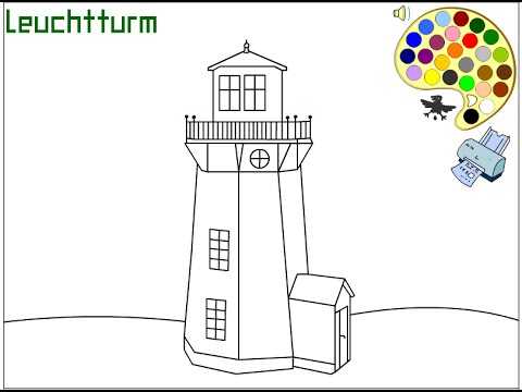 Lighthouse Coloring Pages For Kids