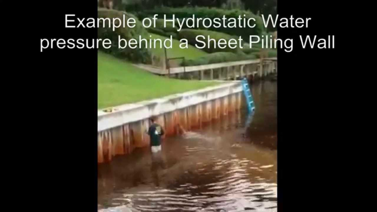Example Of Hydrostatic Water Pressure Behind A Sheet