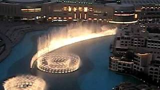 Dubai Fountain from Ramada Downtown Dubai 33rd floor Penthouse