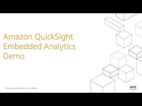 Amazon QuickSight Embedded Analytics Demo
