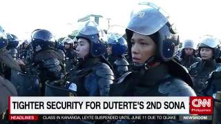 Tighter security for Duterte's 2nd SONA