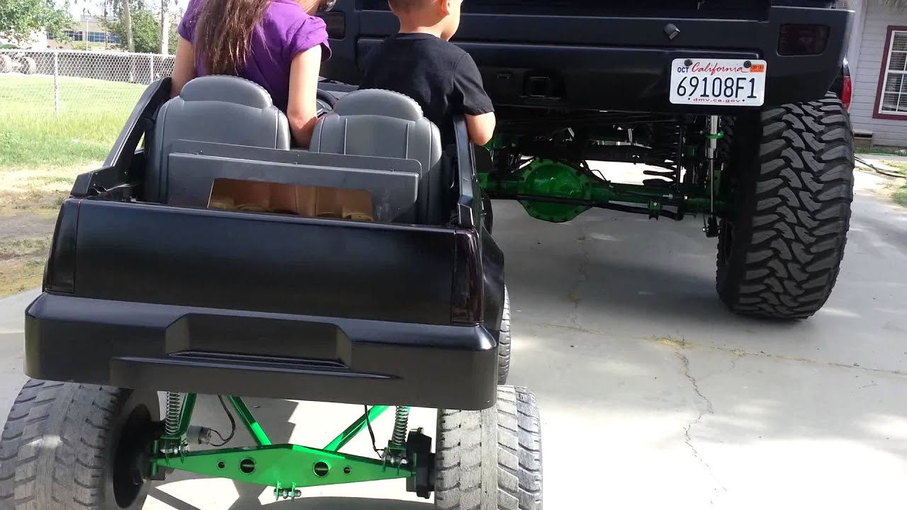 Lifted hummer lifted escalade power wheel - YouTube