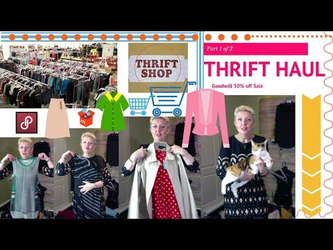 Reseller Vlog Thrift Haul Video Part 1 of 2 - Goodwill 50% O