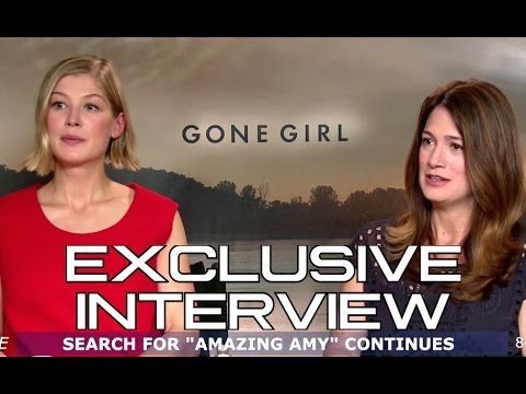 Rosamund Pike and Gillian Flynn   Gone Girl 2014 David Fincher Movie HD