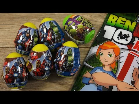 Marvel's The Avengers Nutella & Toy SURPRISE EGGS Ben10 Party Bag
