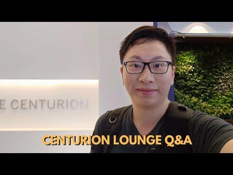 Amex Centurion Lounge FAQ