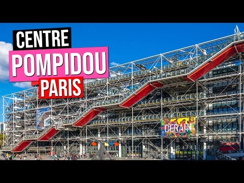 CENTRE POMPIDOU in Paris France | BEAUBOURG Museum (Architec