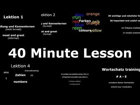 Learn German: Common Phrases, 30 Important Verbs & Core Vocabulary #A - #E (40 Minute Lesson)