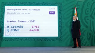 Adultos mayores de zonas rurales, prioritarios en etapa 2 de vacunación. Conferencia presidente AMLO