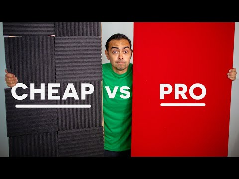 $50 DIY vs $450 PRO Acoustical Panels (Worth It?) - Echo & Sound Proofing