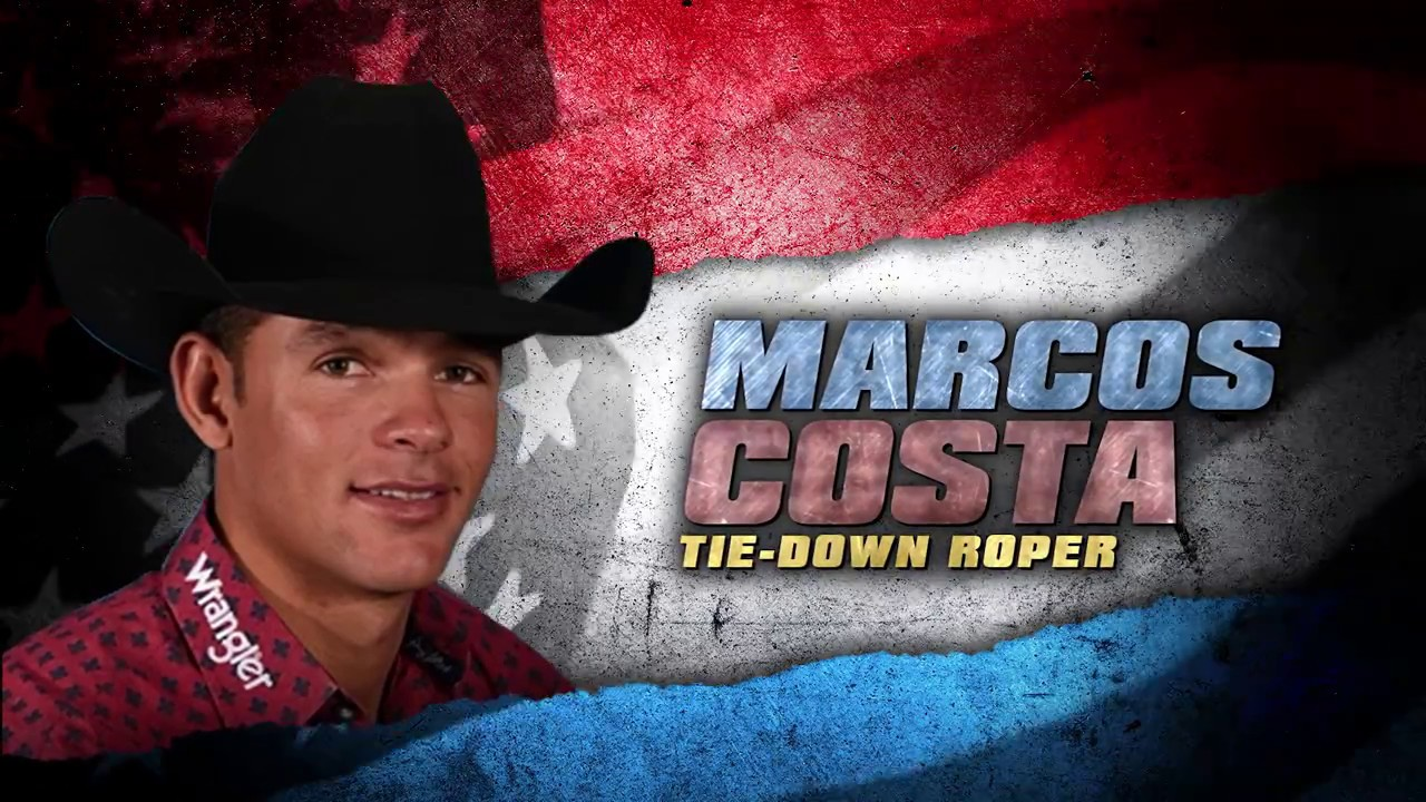 Tie-Down Roper, Marcos Costa v. Tyson Durfey @ THE AMERICAN 30 - YouTube