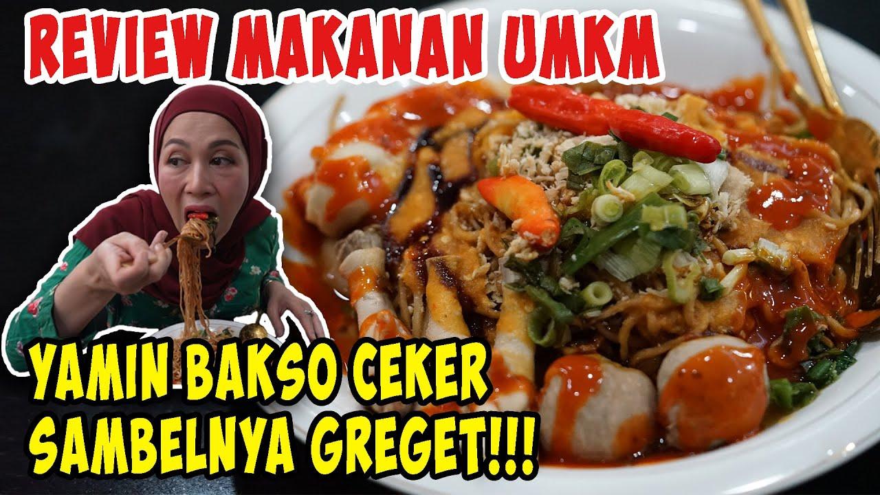 MIE YAMIN BAKSO CEKER SAMBELNYA GREGET!!