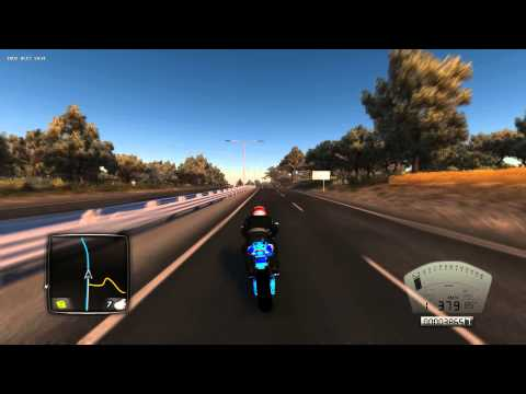 TDU2 60fps REC (Speed moto 1000km/h+)