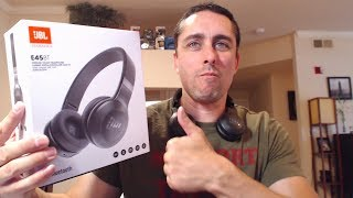 JBL E45BT Bluetooth Headphones - UNBOXING