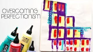 How to Stop Perfectionism Getting In The Way Of Your Art - Mixed Media Warm up Pages