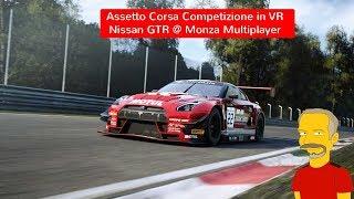Assetto Corsa Competizione in VR - Build 0.6 Nissan GTR @ Monza - Multiplayer race