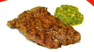 Grilled Churrasco With Chimichurri Sauce