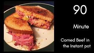 Cooking with Chris Homemade Ruebens, 90 minute Corned Beef in the Instant pot!