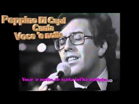 Peppino Di Capri Voce 'e notte con testo video Mario Ferraro