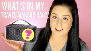 WHAT'S IN MY MAKEUP TRAVEL BAG?! ✈️