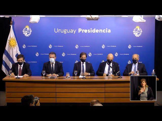 Conferencia de prensa del presidente Luis Lacalle Pou