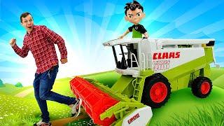 Супергерой БЕН 10 в видео для мальчиков - Зачем Бен Тену нужен Комбайн? – Лучшие игры с машинками