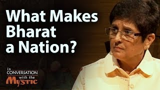 Kiran Bedi engages Sadhguru on the issue of what holds Bharat toget...
