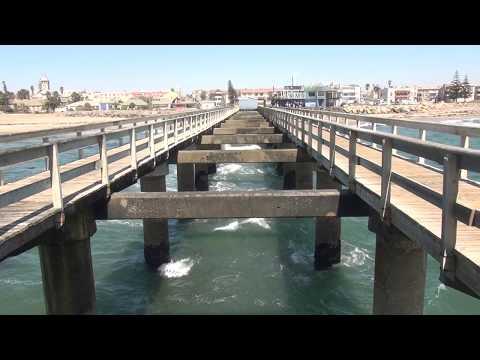Jetty in Swakopmund, Namibia: yesterday and today | Историческая пристань в Свакопмунде видео и фото