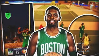 CELTICS KYRIE IRVING ON NBA 2K17 MYPARK! NASTIEST ANKLE BREAKERS OF ALL TIME! NBA 2K17