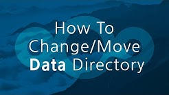 How To Change Move Data Directory