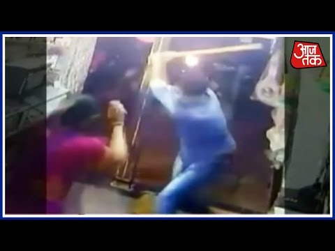 Goons Caught On CCTV Beating Shop Owners At Dehu road Pune