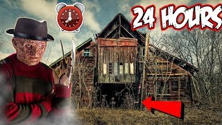 FREDDY K OVERNIGHT CHALLENGE PRANK ON SCRUBZAH | I HID IN A BARN OVERNIGHT DISGUISED AS FREDDY K