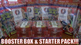 UNBOXING BOOSTER BOX (630 CARDS!!!) & STARTER PACK ⚽️ Panini Adrenalyn XL ROAD TO EURO 2016 TCG