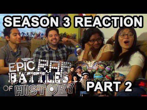 Epic Rap Battles of History Season 3 (Binge Reaction) Part 2 - Awkward Mafia Watches