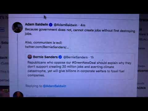 "Adam Baldwin, The Economy Destroys Jobs As It Creates Them. It's Called ""Creative Destruction"""