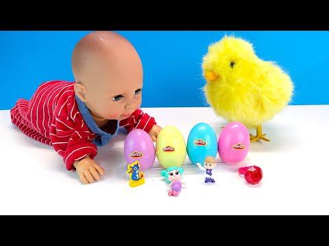 У Беби Анабель Температура Цыплёнок Дарит Яйца с Сюрпризами Мультики для детей 108мама тв