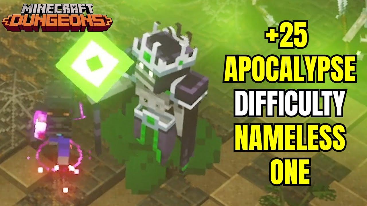 Apocalypse +25 Difficulty Nameless One / Minecraft Dungeons Desert Temple Apocalypse +25