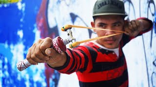 How To Make Quick & Easy BUT Powerful Slingshot | Powerful Slingshot VS Cokes