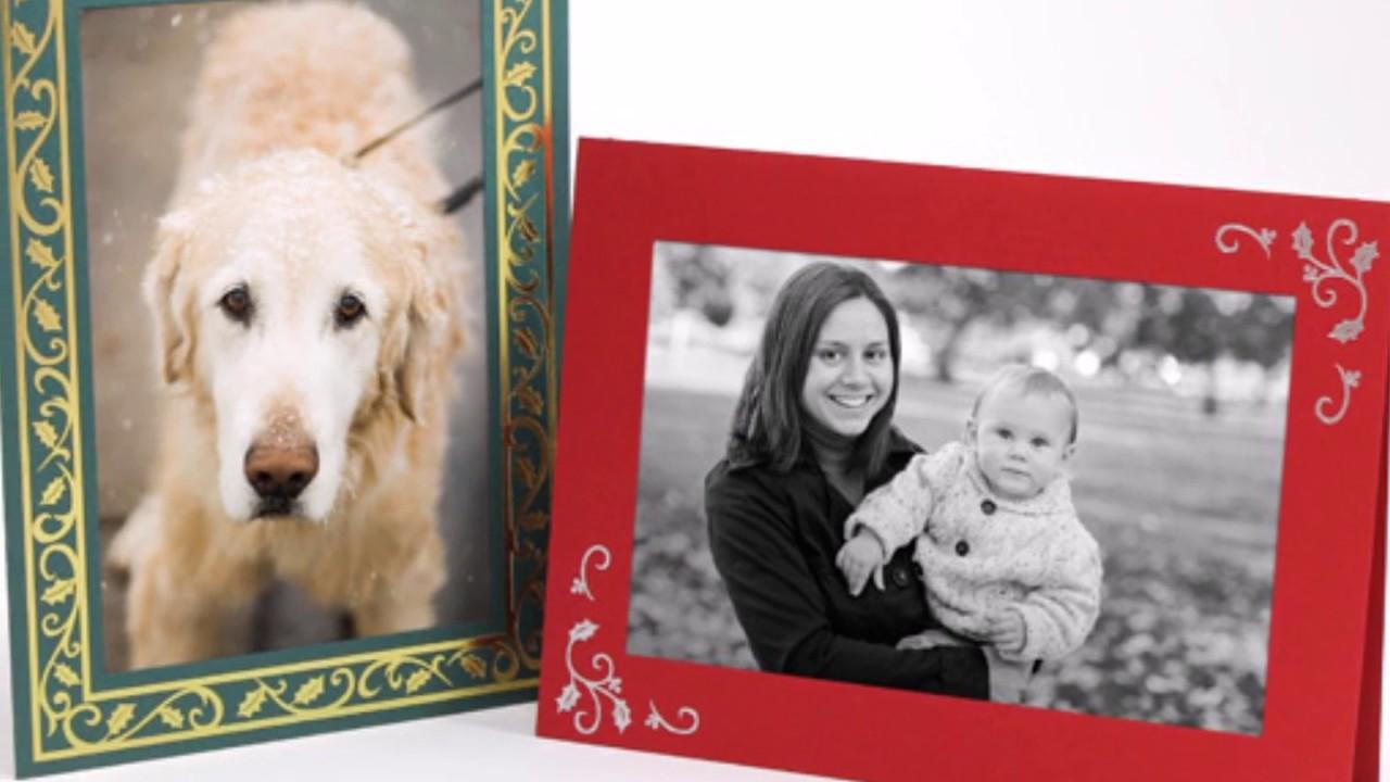 Christmas Holiday Photo Folders Photo Cards Studio Style Youtube