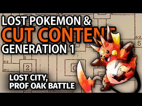Pokemon Red & Blue's Cut Content - People, Places, & Pokemon