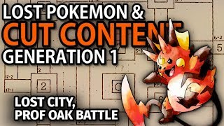 Pokemon Red & Blue's Cut Content - People, Places, & Pokemon