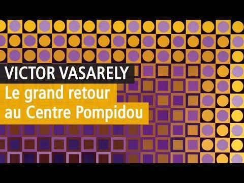 Vasarely crée l'événement au Centre Pompidou - L'exposition en Vidéo YouTube - Paris