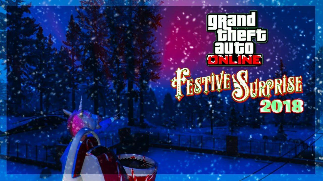 Gta V Christmas Dlc 2019.Gta Online New Christmas 2018 Dlc Info Festive Surprise Gifts Snow Coming More Gta 5 Online
