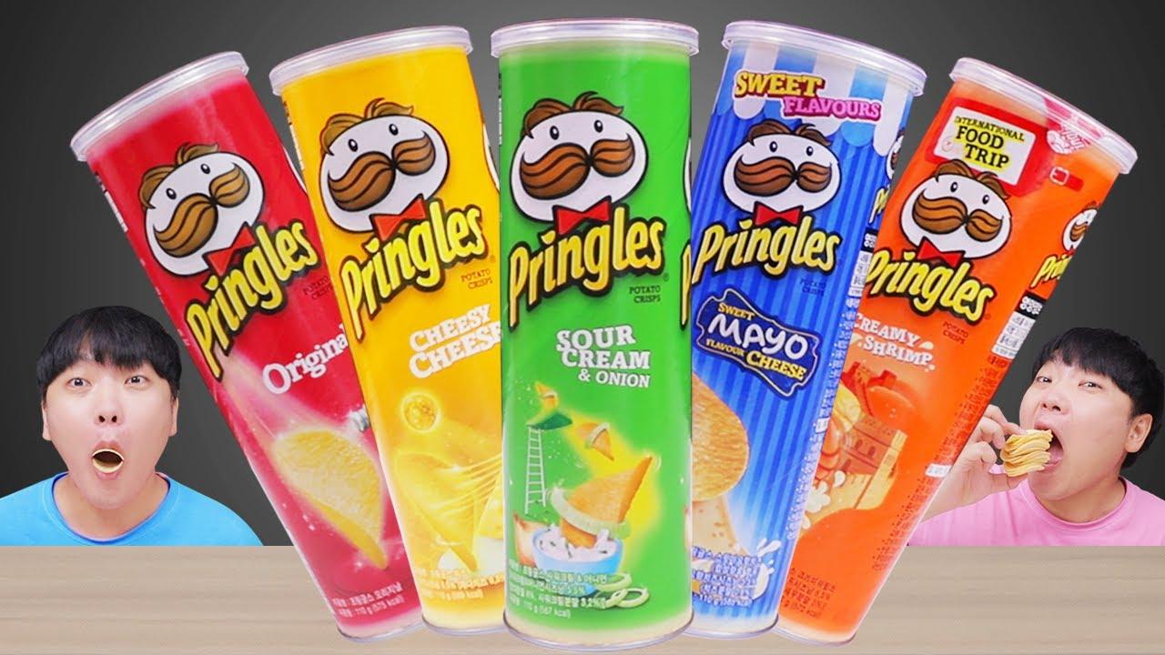 PRINGLES POTATO CHIP Rainbow Challenge 프링글스 무지개 색깔 챌린지 DOEKI더키