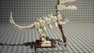 Lego tutorial: dinosaur skeleton